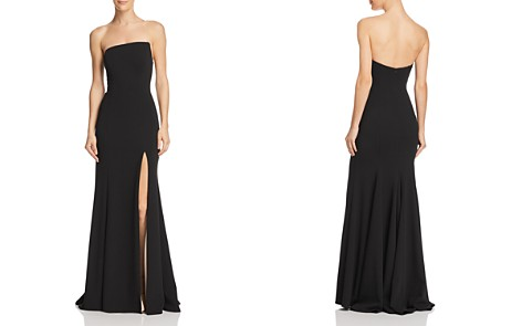 AQUA Strapless Scuba Crepe Gown - 100% Exclusive - Bloomingdale's_2