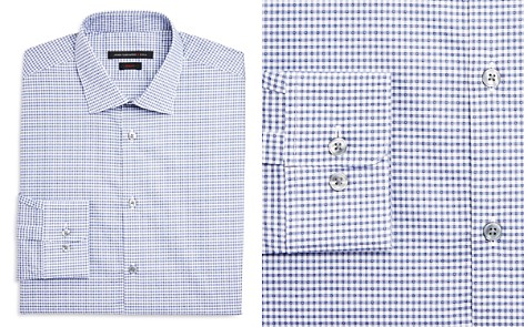 John Varvatos Star USA Micro Check Dot Slim Fit Dress Shirt - Bloomingdale's_2