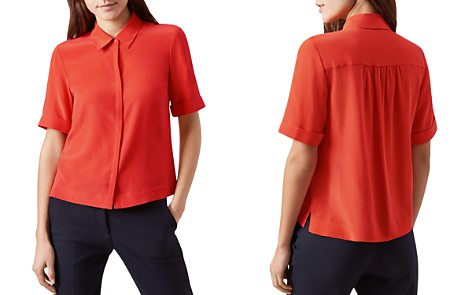 HOBBS LONDON Ebony Silk Shirt - Bloomingdale's_2
