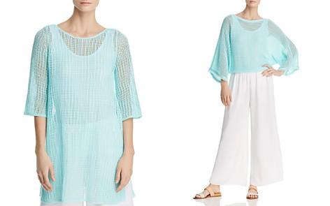 Eileen Fisher Organic Linen Mesh Tunic - Bloomingdale's_2