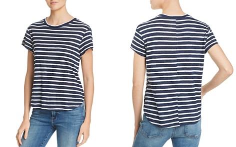 FRAME Classic Striped Linen Tee - Bloomingdale's_2