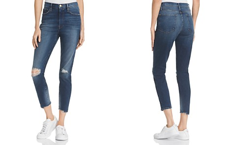 FRAME Ali High-Rise Distressed Cigarette Jeans in Morrisly - Bloomingdale's_2