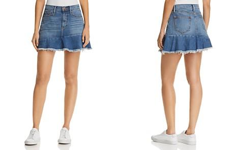 AQUA Ruffle-Hem Denim Skirt - 100% Exclusive - Bloomingdale's_2