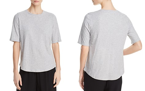 Eileen Fisher System Cotton Elbow-Sleeve Tee - Bloomingdale's_2