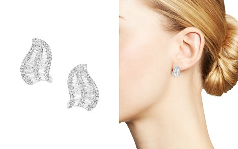 Bloomingdale's Diamond Leaf Earrings in 14K White Gold, 0.95 ct. t.w. - 100% Exclusive _2