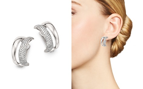 Roberto Coin 18K White Gold Scalare Convertible Diamond Earrings - Bloomingdale's_2