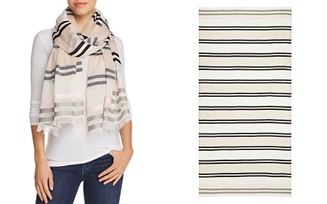 AQUA All Over Stripe Wrap Scarf - Bloomingdale's_2
