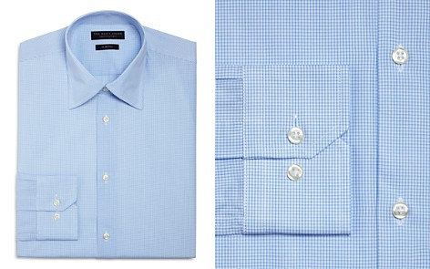 The Men's Store at Bloomingdale's Micro Shadow Check Slim Fit Dress Shirt - 100% Exclusive_2