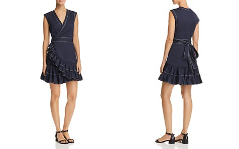 Rebecca Taylor Topstitched Wrap Dress - Bloomingdale's_2