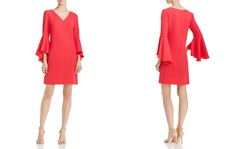 Eliza J Bell-Sleeve Crepe Dress - Bloomingdale's_2