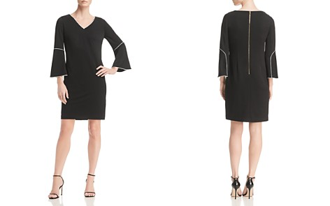 Calvin Klein Piped Bell-Sleeve Dress - 100% Exclusive - Bloomingdale's_2