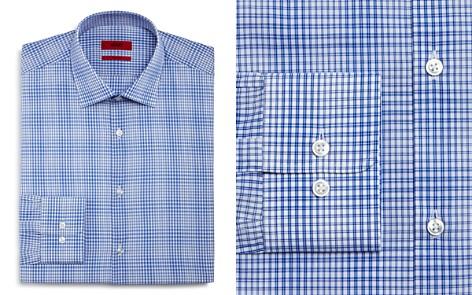 HUGO Micro Check Regular Fit Dress Shirt - Bloomingdale's_2