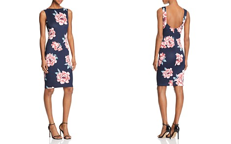 AQUA Scoop-Back Floral-Print Dress - 100% Exclusive - Bloomingdale's_2