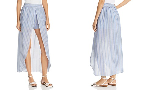 AQUA Skirted Striped Shorts - 100% Exclusive - Bloomingdale's_2