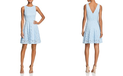 AQUA V-Back Lace Fit-and-Flare Dress - 100% Exclusive - Bloomingdale's_2