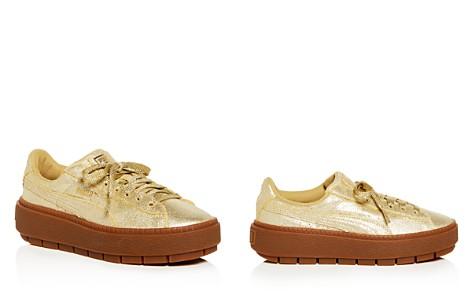 PUMA Women's Basket Glitter Lace Up Platform Sneakers - Bloomingdale's_2