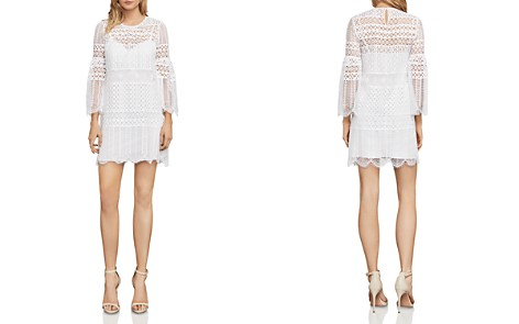 BCBGMAXAZRIA Bell Sleeve Lace Dress - Bloomingdale's_2