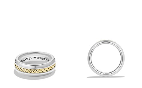 David Yurman Cable Classic Ring with 18K Gold - Bloomingdale's_2