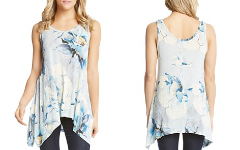 Karen Kane Floral-Print Handkerchief Hem Tank - Bloomingdale's_2