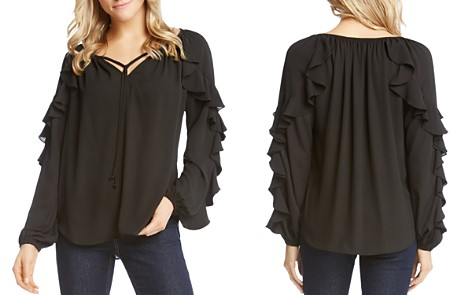 Karen Kane Ruffle-Sleeve Top - 100% Exclusive - Bloomingdale's_2