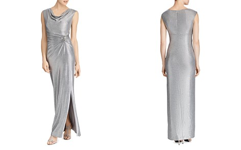 Lauren Ralph Lauren Metallic Cowl-Neck Gown - Bloomingdale's_2