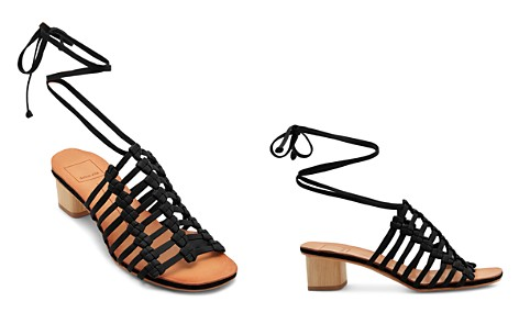 Dolce Vita Women's Leather Ankle Tie Low Heel Sandals - Bloomingdale's_2