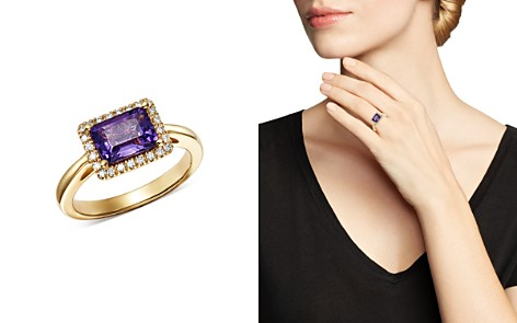 Bloomingdale's Amethyst & Diamond Ring in 14K Yellow Gold - 100% Exclusive _2