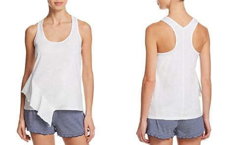 Splendid Asymmetric Ruffle Sleep Tank & Striped Cotton Shorts - Bloomingdale's_2