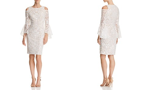 AQUA Cold-Shoulder Lace Dress - 100% Exclusive - Bloomingdale's_2