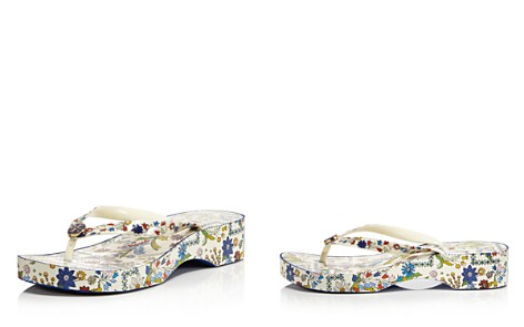 Tory Burch Women's Printed Cut-Out Wedge Thong Sandals - Bloomingdale's_2