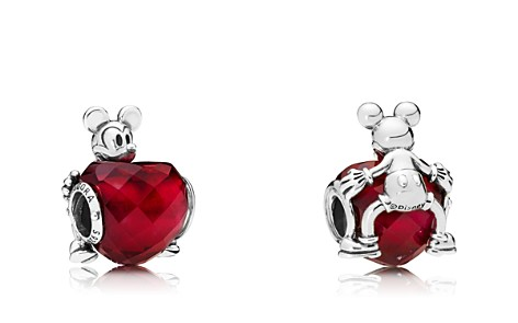 PANDORA Sterling Silver & Crystal Disney Mickey Love Heart Charm - Bloomingdale's_2