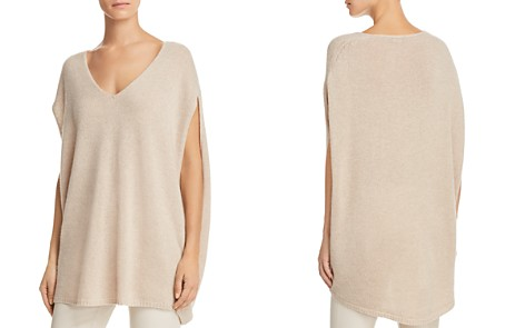 Theory V-Neck Cashmere Cape - Bloomingdale's_2