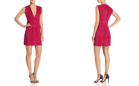 Theory Zinovin Suede Mini Dress - Bloomingdale's_2