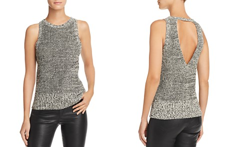 Theory Marled Cutout Back Tank - Bloomingdale's_2
