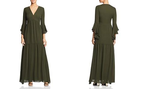 Badgley Mischka Silk Ruffled Maxi Dress - Bloomingdale's_2