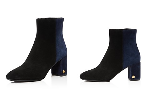 Tory Burch Women's Brooke Two-Tone Suede Block Heel Booties - Bloomingdale's_2