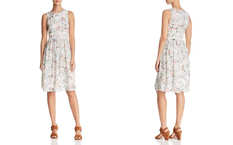 AQUA Botanical Swiss Dot Midi Dress - 100% Exclusive - Bloomingdale's_2