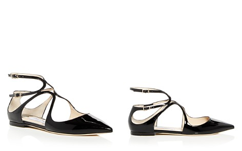 Jimmy Choo Women's Lancer Patent Leather Ankle Strap Flats - Bloomingdale's_2