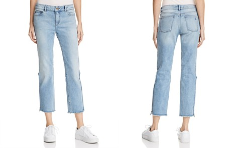DL1961 Mara Instasculpt Ankle Straight Jeans in Marina - Bloomingdale's_2