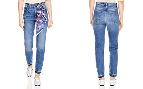 Sandro Rozabel Scarf Detail Straight-Leg Jeans in Blue Vinta - Bloomingdale's_2