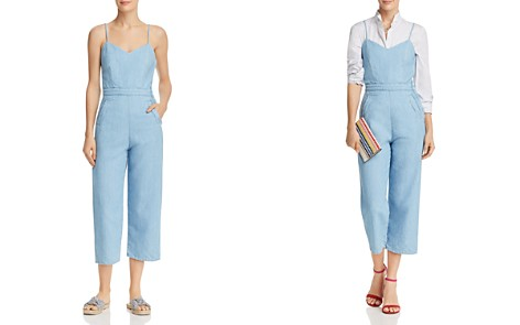 MOTHER Cut It Out Cropped Denim Jumpsuit - Bloomingdale's_2