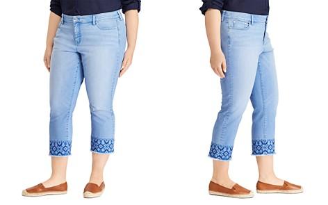 Lauren Ralph Lauren Plus Premier Straight Crop Jeans in Blue - Bloomingdale's_2