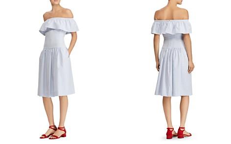 Lauren Ralph Lauren Striped Off-the-Shoulder Dress - Bloomingdale's_2