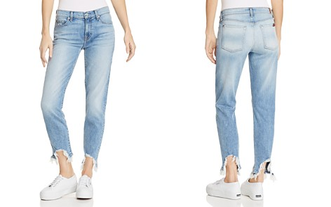 7 For All Mankind Roxanne Ankle Straight Jeans in Light Gallery Row 3 - Bloomingdale's_2