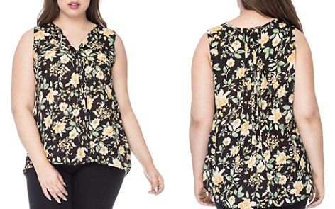 B Collection by Bobeau Curvy Lily Pleat-Back Top - Bloomingdale's_2