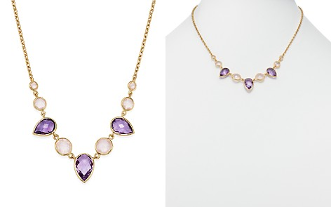 """Bloomingdale's Amethyst & Rose Quartz Necklace in 14K Yellow Gold, 18"""" - 100% Exclusive _2"""