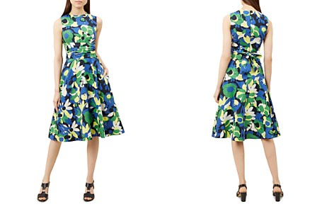 HOBBS LONDON Twitchill Floral Print Linen Dress - Bloomingdale's_2