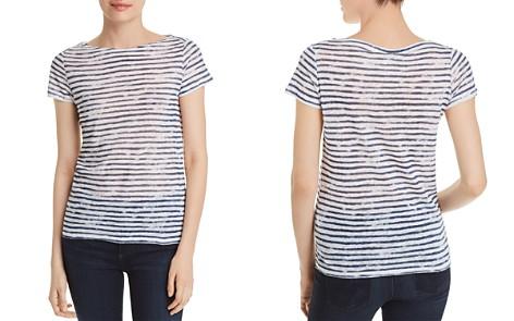 Majestic Filatures Striped Linen Short-Sleeve Tee - Bloomingdale's_2