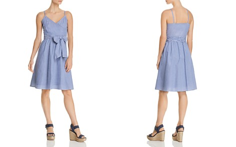 Cupio Pinstripe Faux-Wrap Dress - Bloomingdale's_2