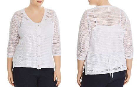 Foxcroft Plus Marie Lace-Knit Cardigan - Bloomingdale's_2